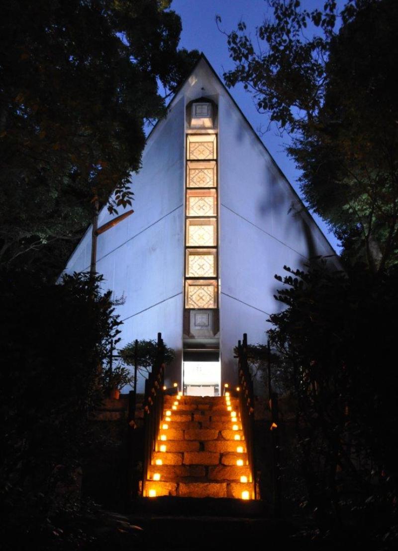 澤田美喜記念館ライトアップ(2)